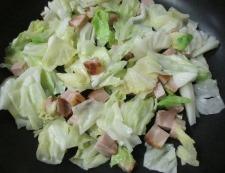 焼き豚とキャベツの炒め物 調理④