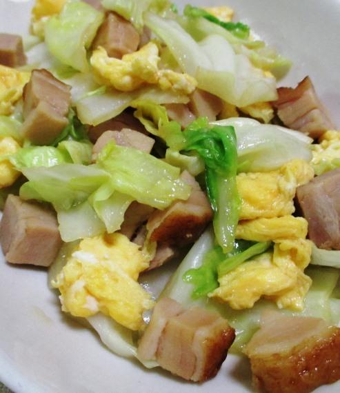 焼き豚とキャベツの炒め物 B