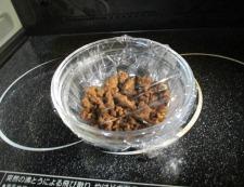 蒸しナス肉味噌 調理②