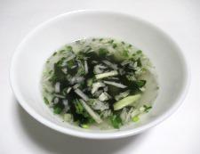シーフードねぎ塩スープ 調理③