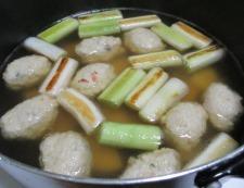 鶏だんごと焼きネギのスープ煮 調理⑤