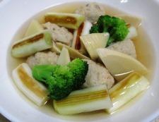 鶏だんごと焼きネギのスープ煮 調理⑥