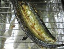 秋刀魚マヨ七味 調理①