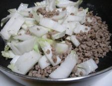 白菜と豚ひき肉のピリ辛煮 調理④