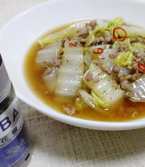 白菜と豚ひき肉のピリ辛煮 拡大