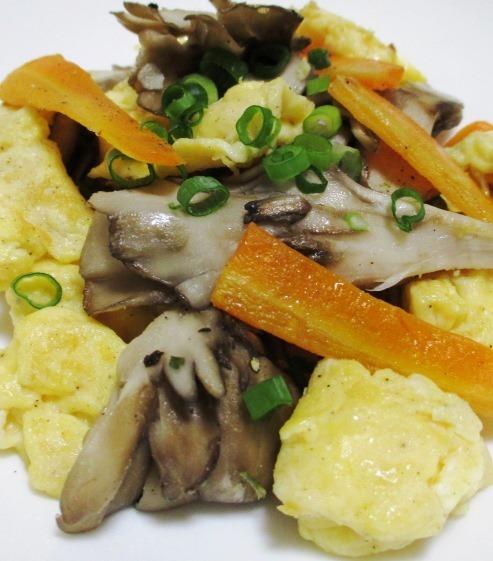 舞茸と炒り卵 大