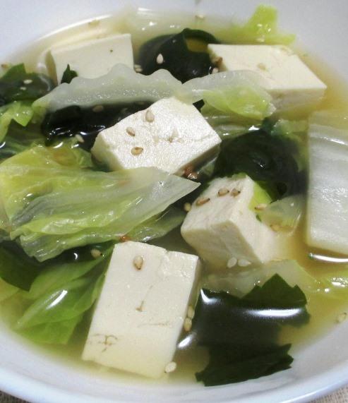 豆腐とわかめのスープ B
