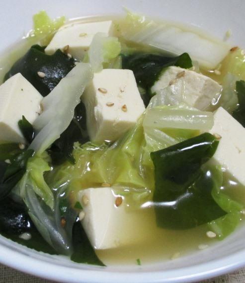 豆腐とわかめのスープ 大