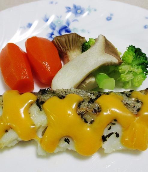 タラのバジルチーズ焼き 拡大
