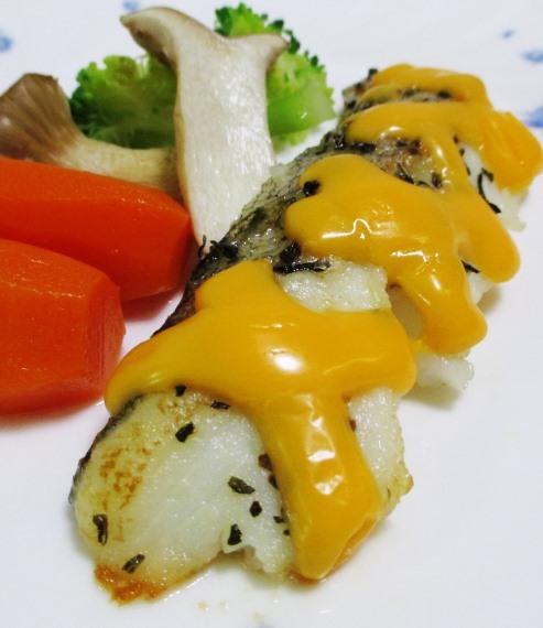 タラのバジルチーズ焼き 大