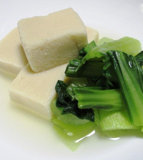 高野豆腐青梗菜 大