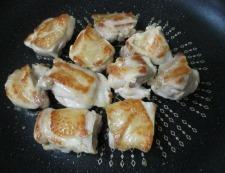 鶏もも肉の甘酢ねぎソース 調理④