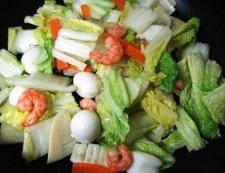 海鮮炒麺 調理④