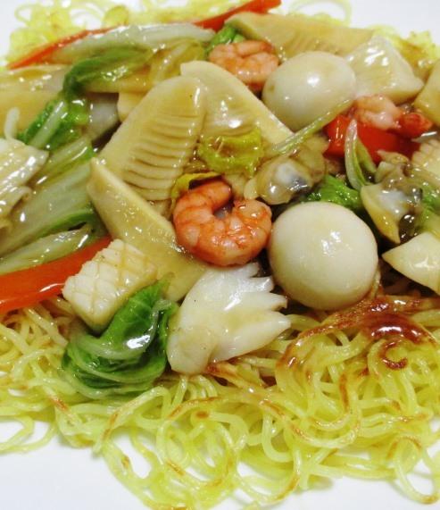 海鮮炒麺 拡大