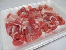 豚こまとザーサイの炒め物 材料①