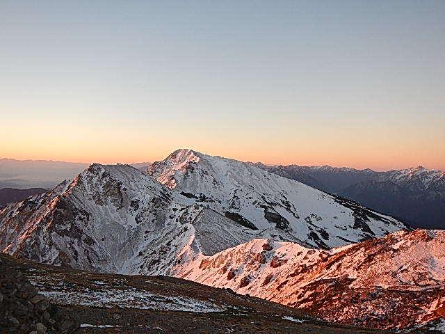 新雪の杓子岳・白馬鑓