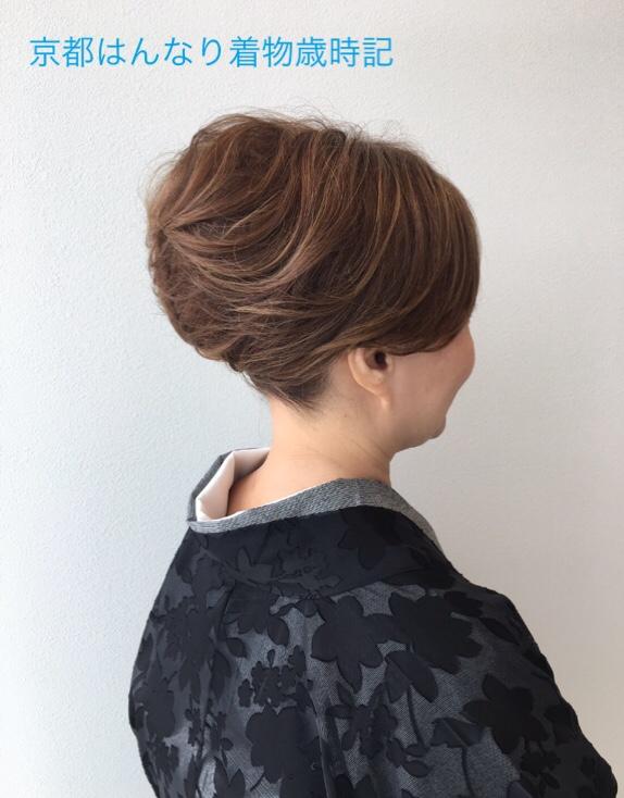 盛り髪で和装のショートヘアもかっこよく! , 京都はんなり着物