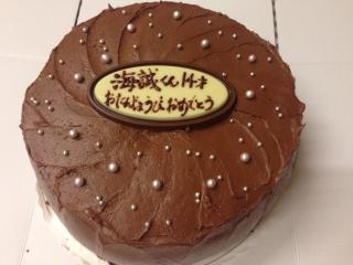 チョコレートケーキ実はシフォン