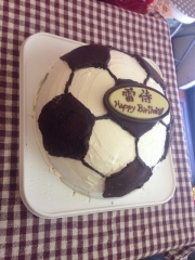 ケーキはサッカーボール