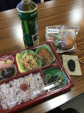 171104呉竹WSお弁当&墨