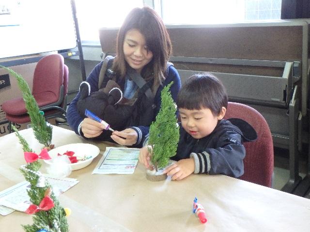 クリスマスイベント『ミニツリー作り』 1