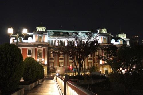 0001:大阪中之島公会堂 夜の外観①