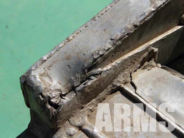 アルミ製 ラダーレール クラック