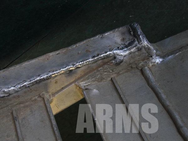 アルミ溶接でラダーレールを修理