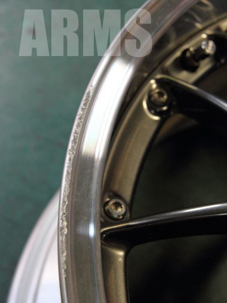 BBS RS-GT 鍛造アルミホイール 傷リペア