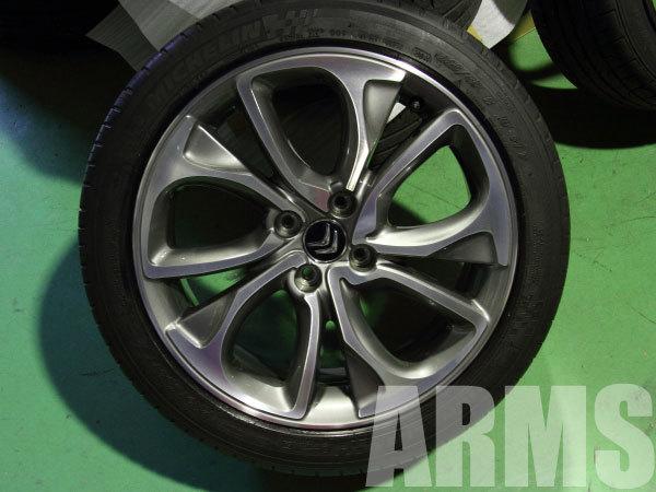 シトロエンDS4のアルミホイール タイヤ組み込みバランス