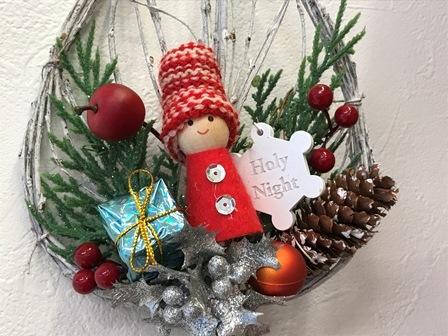 クリスマスリーフリース