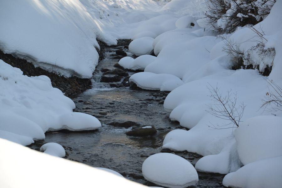 雪帽子と水-1