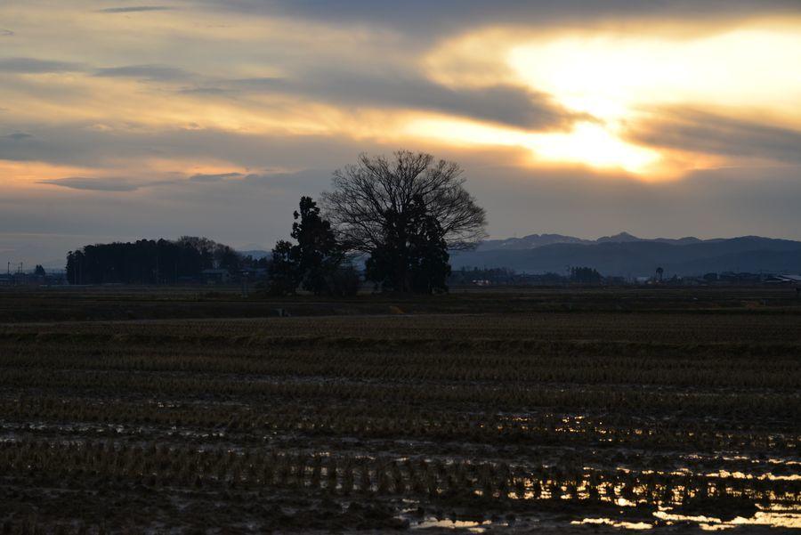年の暮れの夕陽-4