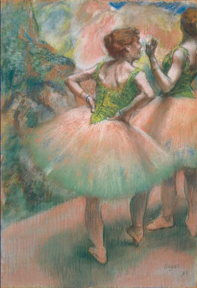 踊り子たち、ピンクと緑 ドガ