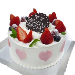 ハート付苺ショートバースデーケーキ