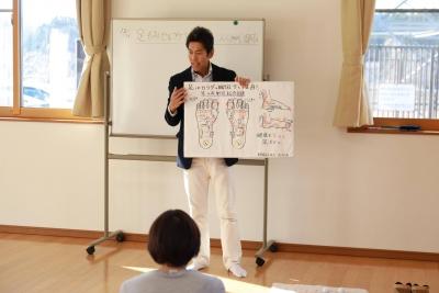 福島県郡山市近郊で本当に効く整体をお探しなら_なちゅゆる会にて足もみセルフケア教室&こんにゃく湿布体験会①