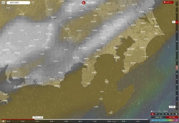 雲予報GFS_20171024-00JST