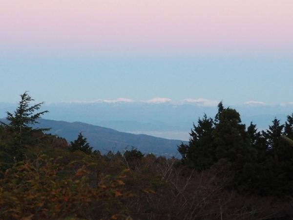 天城高原から見た南アルプスの山並み_20171120