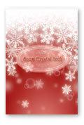 雪の結晶のアーチ 赤