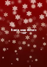 シンプルな雪模様 -赤-