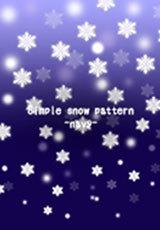 シンプルな雪模様 -紺-
