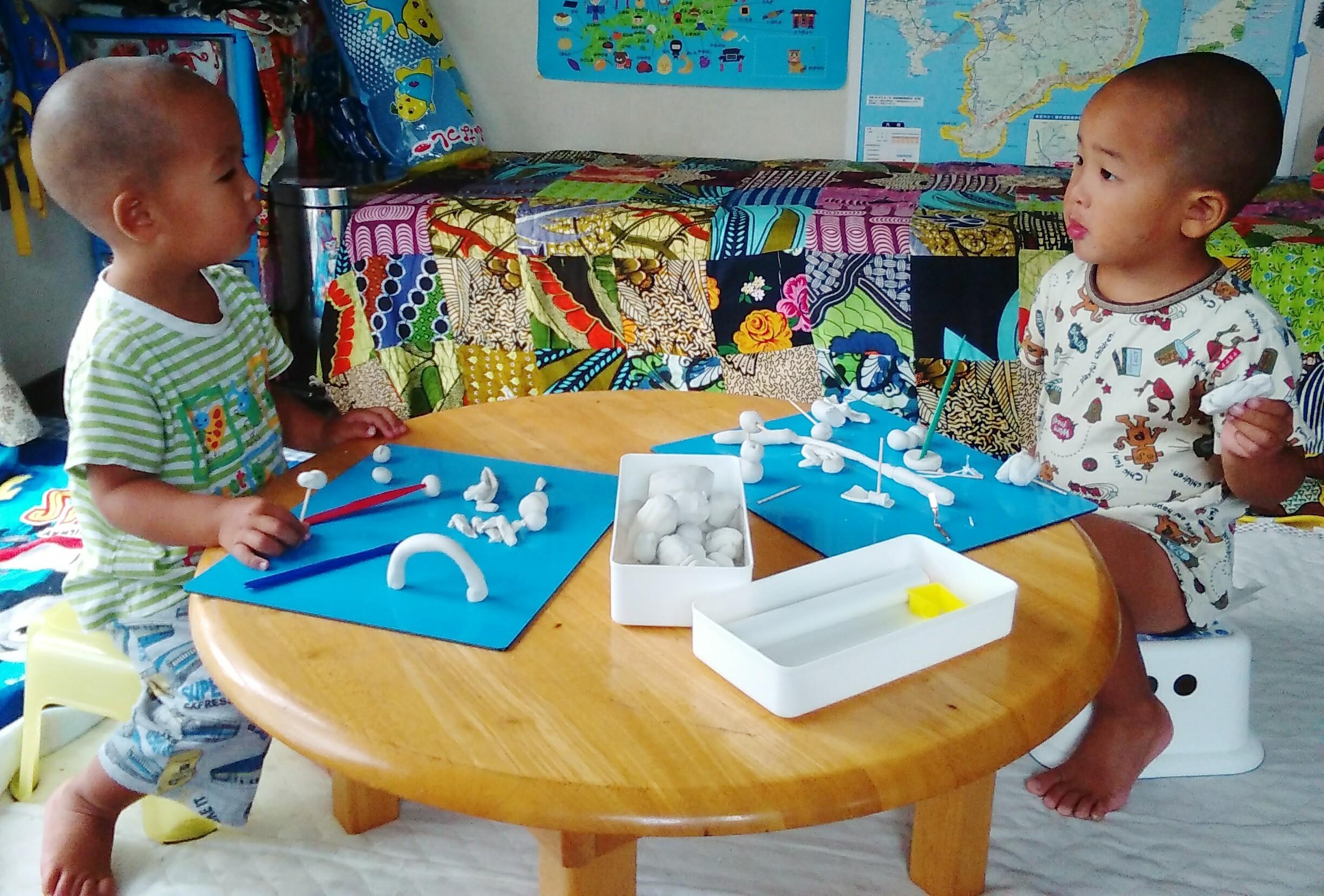 粘土遊び 2歳 4歳