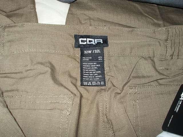 CQR メンズ 作業着 タクティカルパンツ ロングパンツ カーゴパンツ TLP104-TDR(ツンドラ) 32W 32L サイズ・洗濯表示タグ、ポリエステル 65%、綿 35%、リップストップ、防汚・撥水・耐摩耗性 Duratex 加工