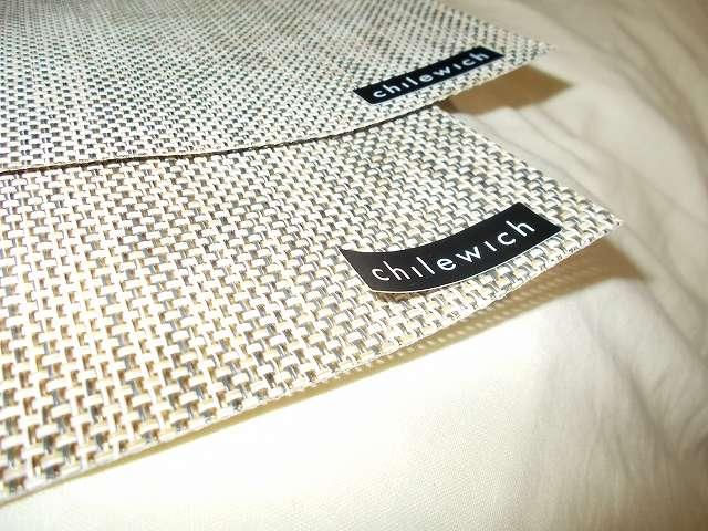チルウィッチ ランチョンマット ミニバスケットウィーブ リネン ブランドタグ 紙シールタイプ、はがれやすい