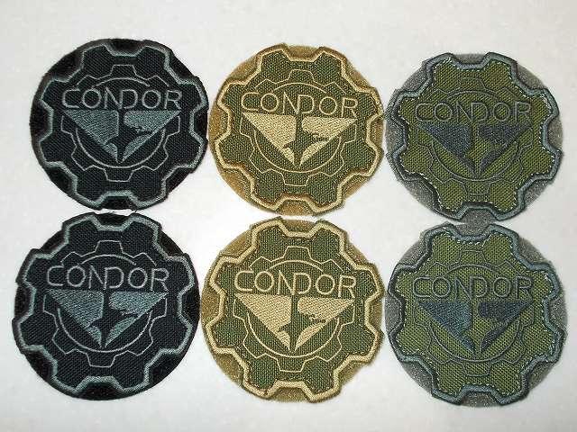 CONDOR コンドル タクティカルギア ギアパッチ BLACK(ブラック)、TAN(タン)、OD(オリーブドラブ) 購入