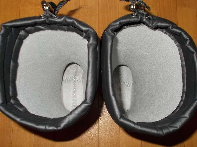 DUNLOP DOLMAN MOTORSPORT ダンロップ ドルマン G298 軽量防寒長靴 中敷を取り出した後の防寒長靴内部