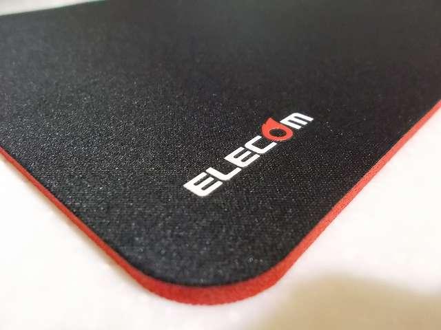 エレコム DUX MMO ゲーミングマウスパッド MP-DUXSBK A4 サイズ マウスパッド企業ロゴ部分 拡大