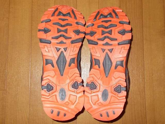 テスラ TESLA All-Terrain gear シリーズ トレイル ランニングシューズ T320 ORG(オレンジ/グレー) 26.5cm アウトソール(靴底)