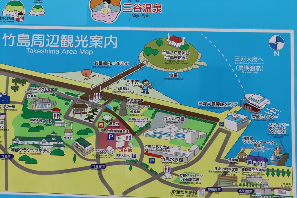 竹島周辺の案内図