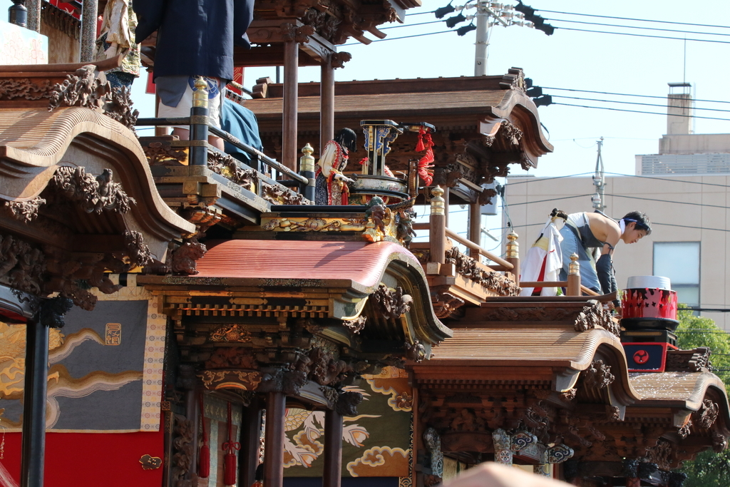 亀崎東組宮本車「湯取り神事」のからくり人形だったようだ